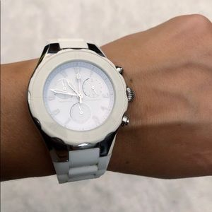 White and Silver Michele Watch
